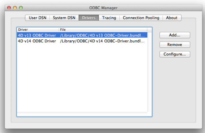 Uninstalling an ODBC Driver on OS X