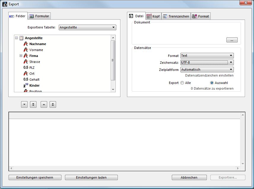 Daten In Datei Exportieren