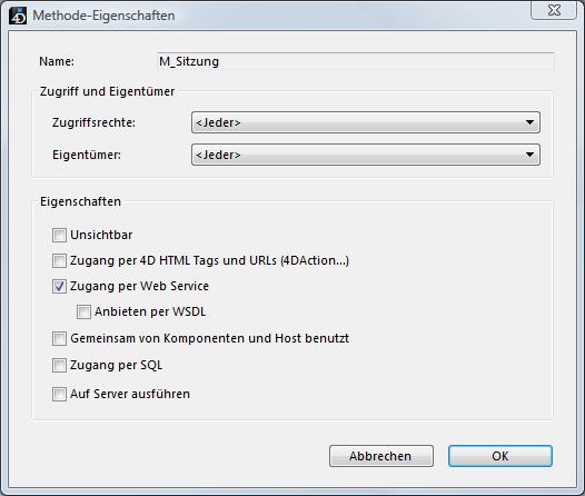Web Service mit 4D veröffentlichen