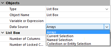 Managing List Box Objects